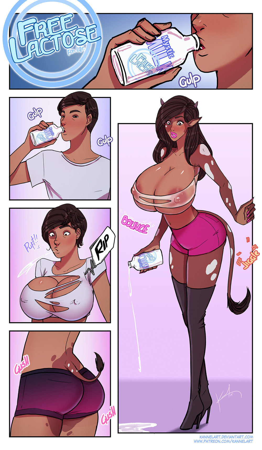 comic female male transformation to Girlfriends 4 ever dlc 01
