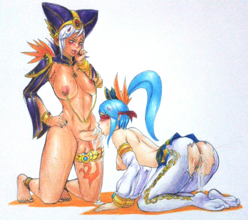 blue legend the the wolves of One piece bunny girl transformation